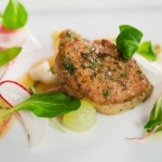 Herb Roasted Sweetbreads with Grapes from California by Chef Jason Berthold