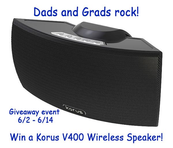 Win a Korus V400 Wireless Speaker, Korus Speakers, Father's Day Gift, Graduation Gift,