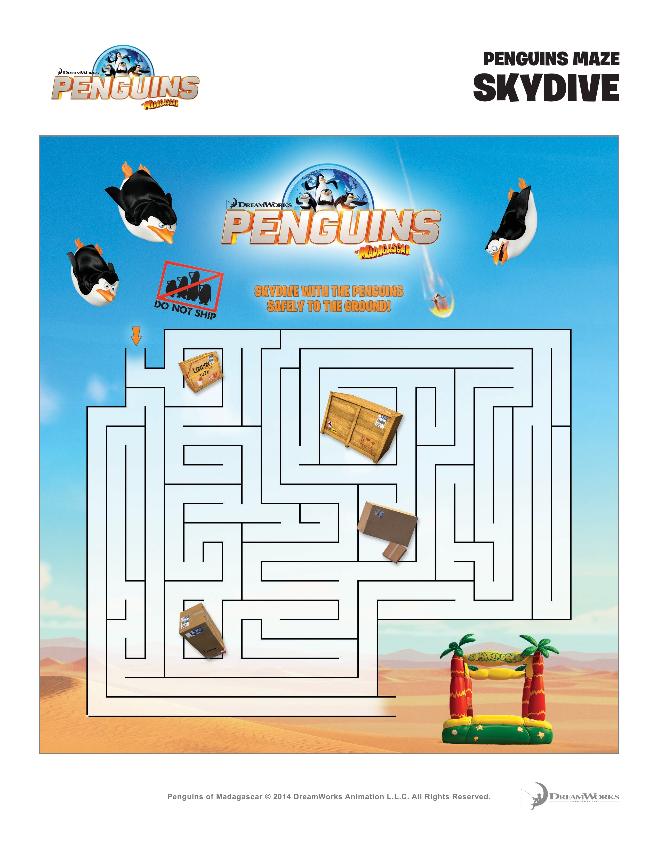 Penguins of Madagascar: Printable Activity & Coloring Sheets ...