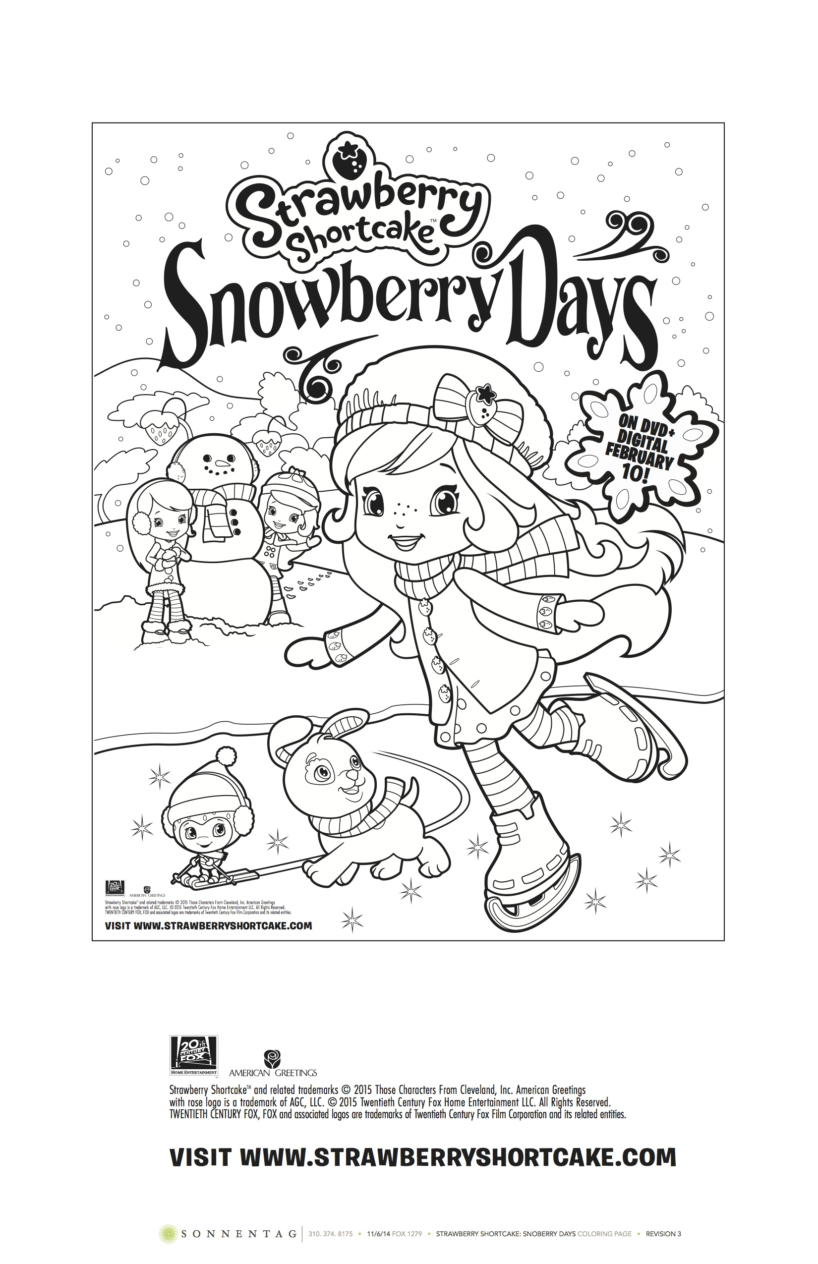 To Strawberry Shortcake Coloring Pages - Strawberry Shortcake And ... | 2550x1650