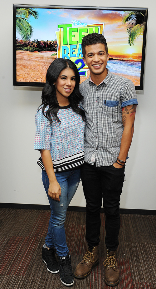 Dancing with Chrissie Fit and Jordan Fisher from Teen Beach 2 #TeenBeach2Event #InsideOutEvent