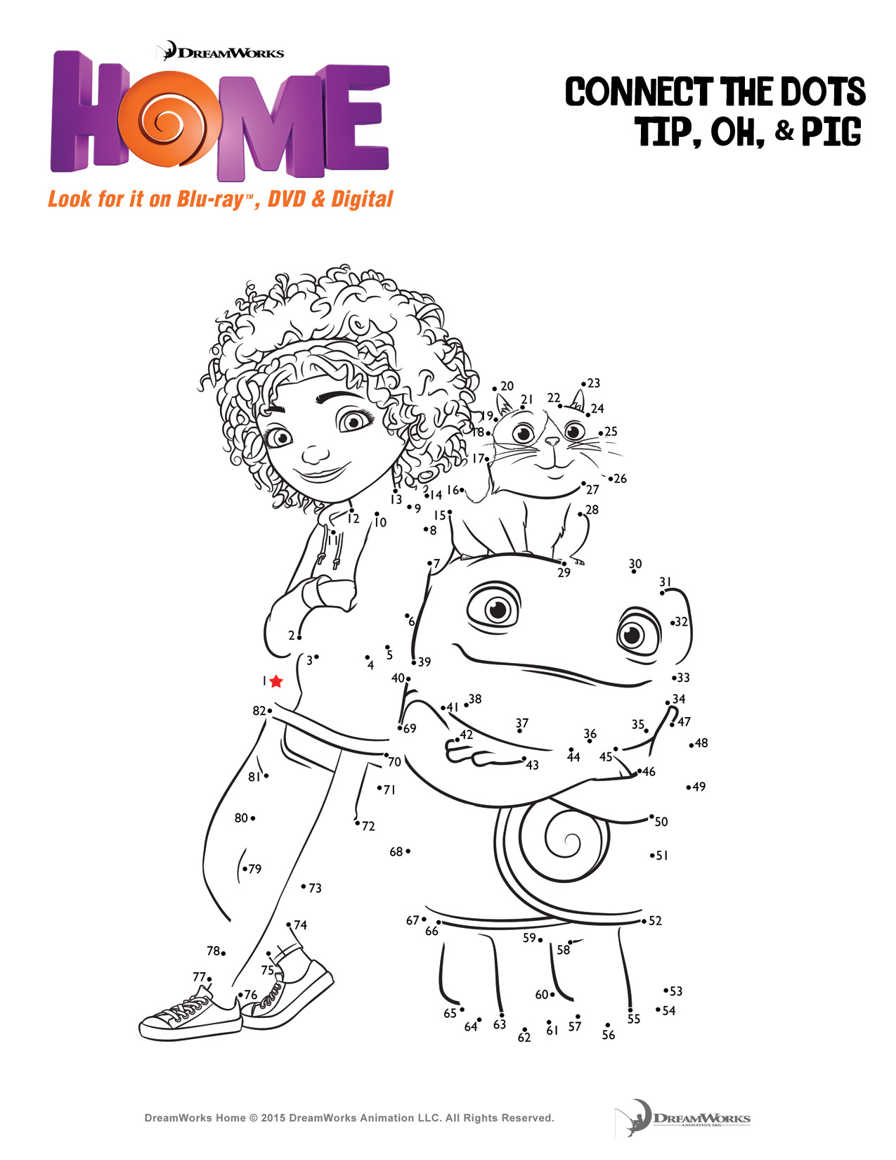 Fun Activity Pages For DreamWorks Animations Home HomeInsiders