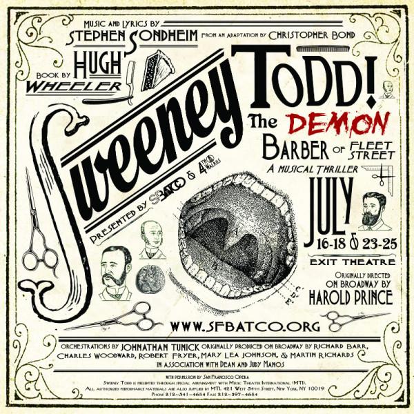 Sweeney Todd The Demon Barber of Fleet Street in SF July 16-25 @BAT_Co #SupporTheArts #SFBatco