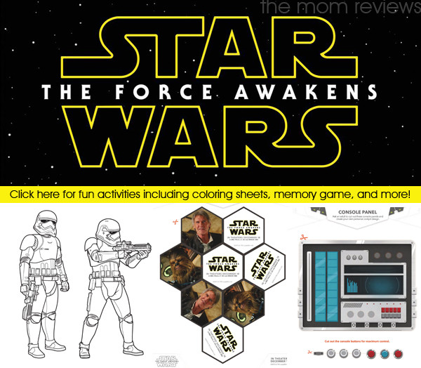 Star Wars: The Force Awakens Activity Sheets and Printables #StarWars #TheForceAwakens