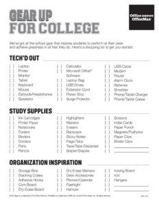 College Checklist