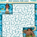 Moana Coloring and Activity Sheets