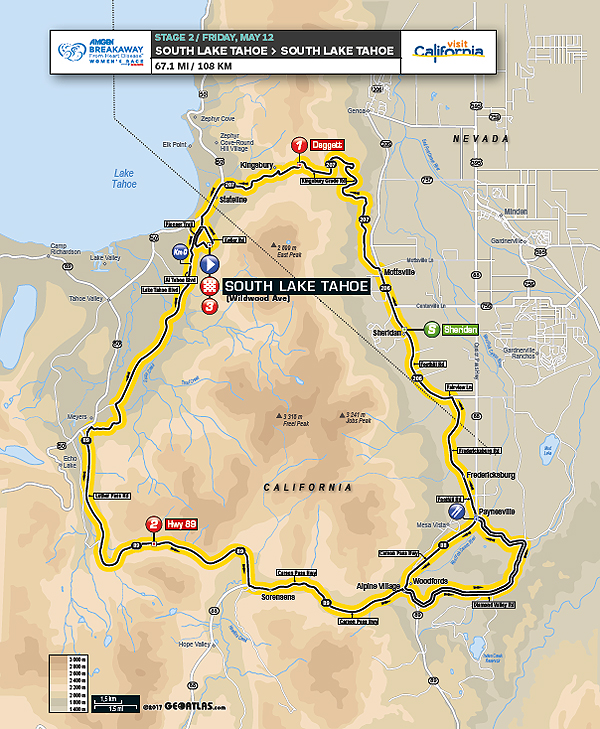 The Amgen Tour of California Women's Race Starts in Lake Tahoe