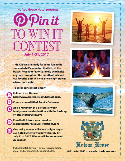 Hofsas House Hotel's Pin It to Win It Contest